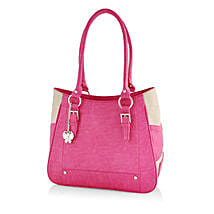 Butterflies Feminine Pink Handbag: Handbags and Wallets