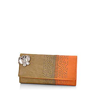 Butterflies Ravishing Beige Wallet: Wallets