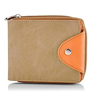 Butterflies Stylish Beige Wallet: Wallets