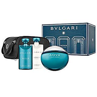 BVLGARI Aqua Gift Set For Men: Karwa Chauth Cosmetics Hampers