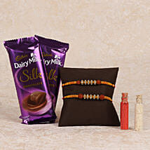 Cadbury Silk And Rakhi Combo: Rakhi to Adoni