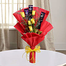 Cadbury With Rose: Fathers Day Flowers & Chocolates