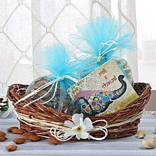 Cane Basket Of Dry Fruits: Send Bhai Dooj Gifts to Mangalore