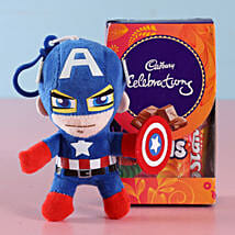 Captain America Rakhi & Cadbury Chocolates: Send Rakhi With Chocolates