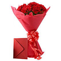 Carnations N Greeting Card: Flowers & Cards Bhopal