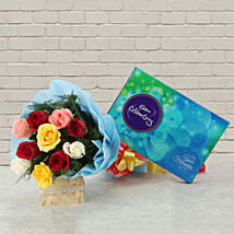 Celebrations with Roses: Flowers & Chocolates for Him