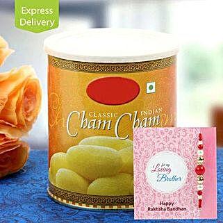 Cham Cham with Rakhi: Rakhi With Sweets to Aurangabad