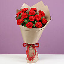 Charming Red Carnations Bouquet: Flowers to Rewa