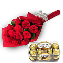 Charming Roses: Flowers & Chocolates Faridabad