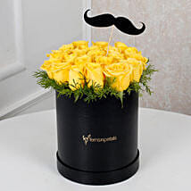 Cheerful Yellow Roses For Him: Roses