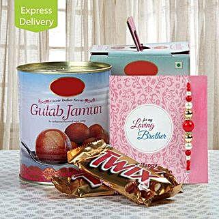Chocolate And Gulab Jamun Love: Send Rakhi With Sweets to Shimla
