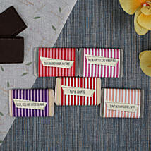 Chocolate Bars For All- 5 Pieces: Personalised Chocolates to Mumbai