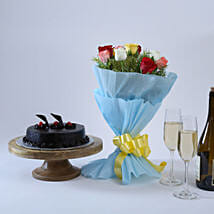 Chocolate Cake and Roses: Send Mothers Day Gifts to Kochi