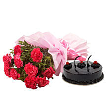 Chocolate Cake N Flowers: