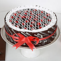 Chocolate Cherry Cake: Send Wedding Cakes to Lucknow