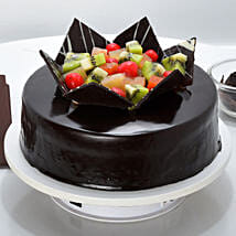 Chocolate Fruit Gateau: Send Romantic Chocolate Cakes