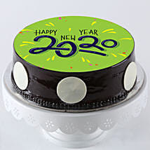 Chocolate Photo Cake For New Year: New Year Special Cakes