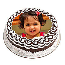 Chocolate Photo Cake: Send Birthday Cakes to Panipat