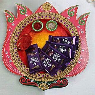 Chocolates In A Wooden Thali: Bhai Dooj Chocolates