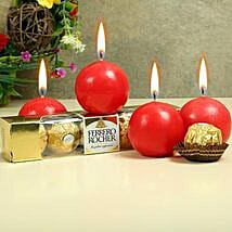 Chocolates With Ball Candles: Send Christmas Gifts for Him