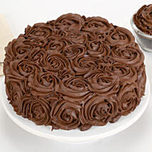 Chocolaty Rose Cake: Send Eggless Cakes to Lucknow