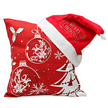 Christmas Cushion and Cap: Gift Delivery in Mahoba