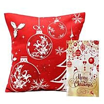 Christmas Cushion and Card: Christmas Gifts  Mumbai