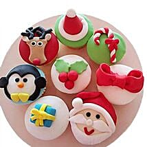Christmas Special Cupcakes: Send Christmas Gifts? to Delhi
