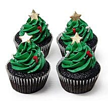 Christmas Tree Cupcakes: Send Christmas Gifts to Chennai