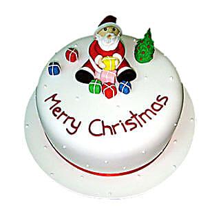 Christmas with Santa Cake: Christmas Cake
