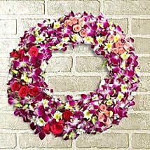 Circle of Life Wreath: Flowers to Aligarh