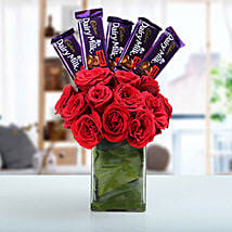 Classic Choco Flower Arrangement: Chocolate Bouquets for anniversary