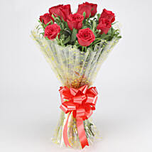 Classic Red Roses Bouquet: Flower Delivery in Almora