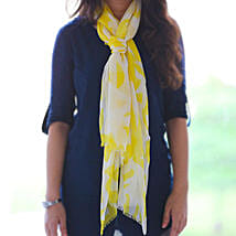 Classic Yellow n White Stole: Scarves And Stoles