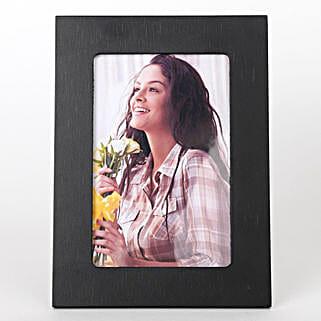 Classy Black Photo Frame: Valentine Personalised Photo Frames
