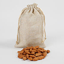 Classy Jute Potli of Almonds: Gifts for Dussehra