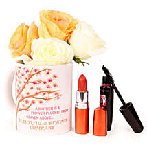 Coffee N Cosmetics Hamper: Artificial Flowers Chennai