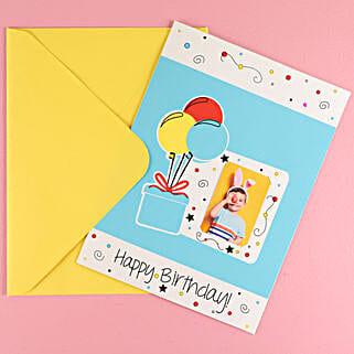 Big Colorful Balloons Birthday Greeting Card: Greeting Cards