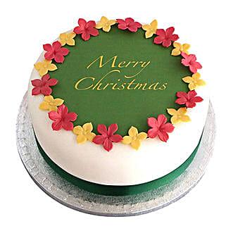 Colorful Christmas Fondant Cake: Christmas Cakes
