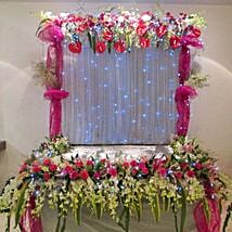 Colorful Floral Decoration: Ganesh Chaturthi Gifts