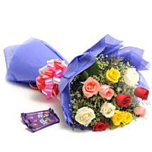 Colour Blast: Flowers & Chocolates for Him
