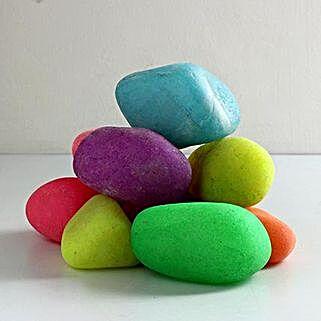 Coloured Quartz Stone 20 To 40 mm: Gardening Pebbles