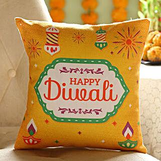 Colourful Diwali Wishes Cushion: Diwali Gifts for Girlfriend
