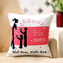 Comforting Personalised Cushion For Mom: Send Home Decor to Hyderabad