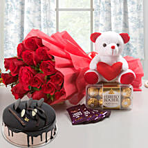 Complete Love Hamper: Send Flowers & Chocolates to Faridabad