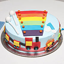 Cool Train First Birthday Cake: Send Mango Cakes to Patna