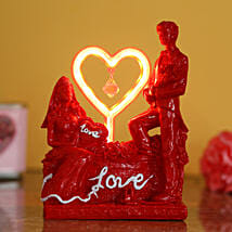 Couple Love Light Decor: Cake Delivery in Akhnoor