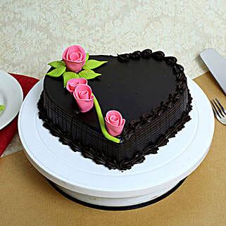 Creamy Heart Truffle Cake: Truffle Cakes
