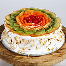Creamy Vanilla Fruit Cake: Midnight Cakes Delivery
