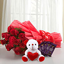 Cuddly Affair: Flowers & Chocolates Faridabad